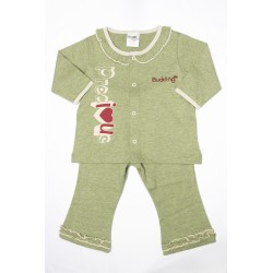 Budding Baby  Anti-Mosquito Apparel Long Sleeve & Long Pant Girl - Green