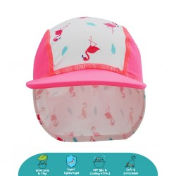'Cheekaaboo Legionnaire Hat (Flamingo) - Summer Paradise'