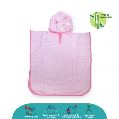 'Cheekaaboo Premium Bamboo Hooded Poncho - Fox (Newborn - 4 Years)'