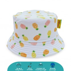 'Cheekaaboo Reversible Bucket Hat - Pineapple (Summer Paradise)'