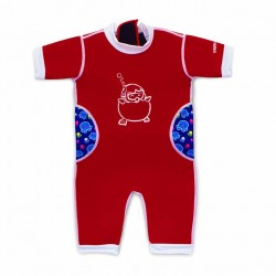 Cheekaaboo Warmiebabes Suit-Red / Octopus