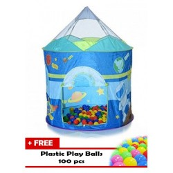 Ching Ching Spaceship Play House + 100 Balls