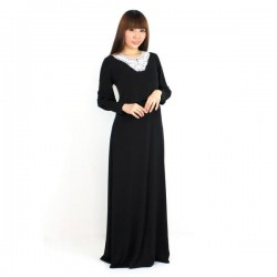 'Fabulous Mom Maxi Nursing Dress (Black)'