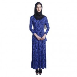 'Fabulous Mom Lady Lara Nursing Dress (Blue Print)'