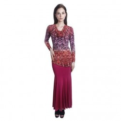 'Fabulous Mom Addini Nursing Dress (Maroon Luxe)'