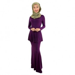 'Fabulous Mom Scarlet Maryam Nursing Dress (Enchanting Purple)'