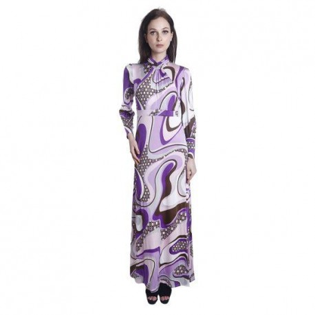 'Fabulous Mom Addini Nursing Dress (Groovy Purple)'