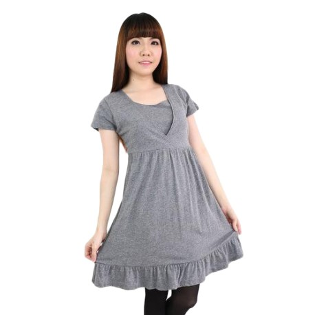 'Fabulous Mom Baby Doll Dress (Grey)'