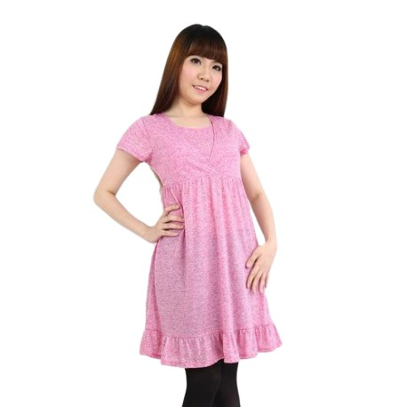 'Fabulous Mom Baby Doll Dress (Pink)'