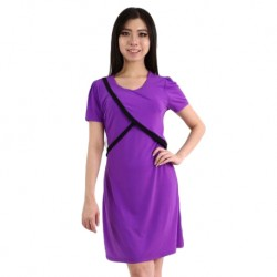 'Fabulous Mom Elsa Fun Nursing Dress (Purple)'