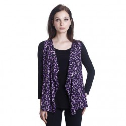 'Fabulous Mom Panthera Purple Cardy Nursing Blouse'