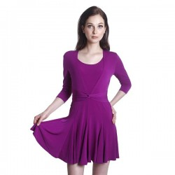 Fabulous Mom Ribbon Twisted Nursing Dress (Purple)