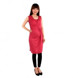 Fabulous Mom Sofia Wrap & Twist Nursing Dress (Pink)