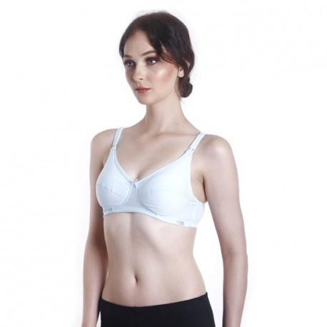 ed40af20f49 Fabulous Mom Summertz Cotton Lightly Padded Nursing Bra (Cyan ...