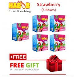 Habib Susu Kambing Strawberry - 5 boxes