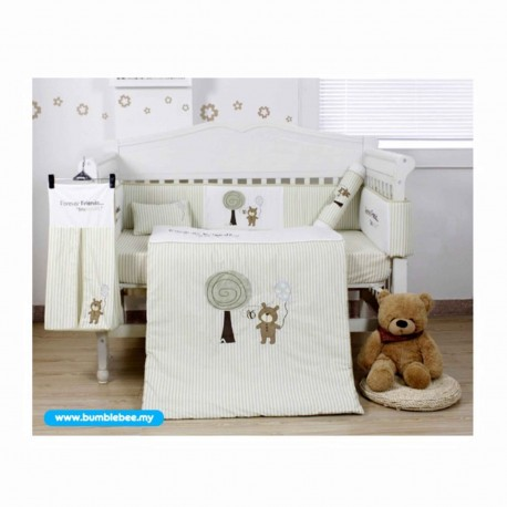 Bumble Bee 7pc Embroidery Crib Set (Forever Friends)