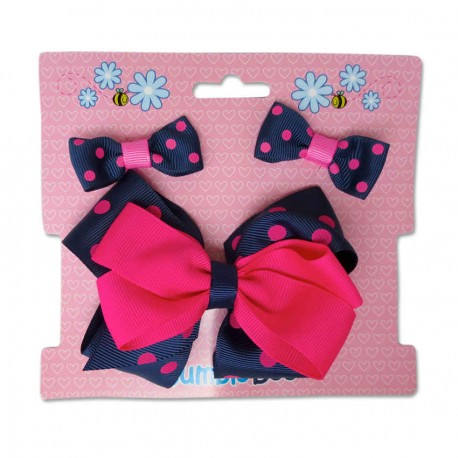 Bumble Bee Hair Clips Set (Red)