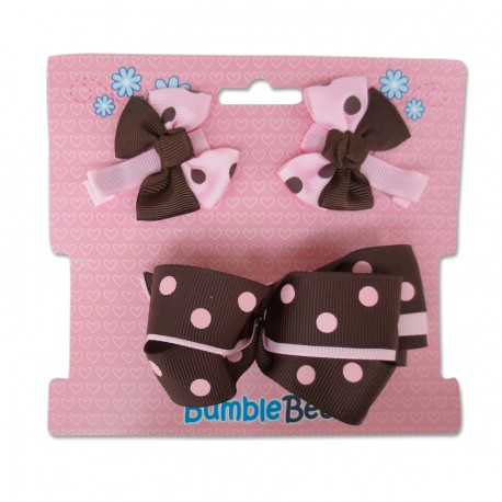 Bumble Bee Hair Clips Set (Coffee)