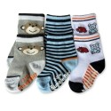 Bumble Bee 3 Pair Pack Animal Friends Socks (S0083)