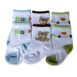 Bumble Bee 3 Pairs Pack Baby Bear Socks (S0082)