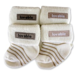 Bumble Bee 2 Pairs Pack Lovable Appliques Socks (S0102)
