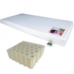 """Bumble Bee Latex Baby Mattress 28x52x3"""" with Fitted Crib Sheet"""