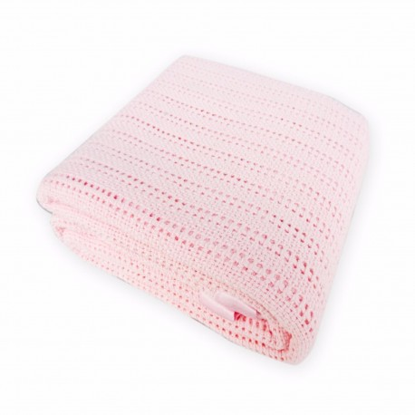 Bumble Bee Thermal Blankets with Satin Border - Pink