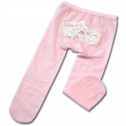 Bumble Bee Lace & Satin Tights-Pink (TLC0010)