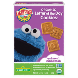 Earth's Best Organic Letter of the Day Cookies Oatmeal Cinnamon