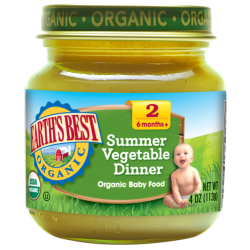 Earth's Best Organic Summer Vegetable Dinner 4oz (6mth+)