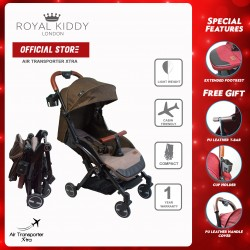 Royal Kiddy London Air Transporter Xtra Brown (Light Weight Stroller)
