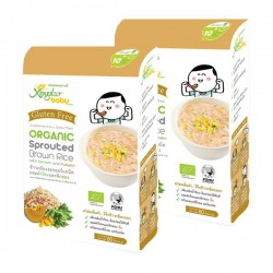 Xongdur Organic Sprouted Brown Rice with Spinach and Pumpkin (5 sachets x 16 g x 2 boxes) - EXPIRED March 2019