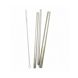 Haakaa Stainless Steel Straw -  (3pc) FREE 1pc Straw Brush