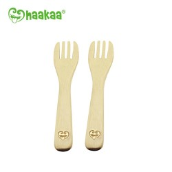 Haakaa Bamboo Kids Fork Set (Pack of 2)