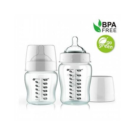 Haakaa 260ml Wide Neck Glass Baby Bottle
