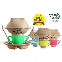 Rice Husk Baby Creative Set (7 pcs) (Husk's Junior) - Pink