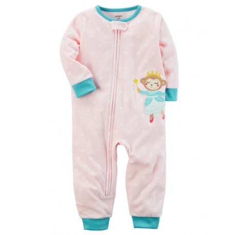 Carter s 1-Piece Monkey Footless Fleece PJs (357G340)  05b0cb94a