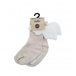 Akarana Baby Winged Socks (Khaki)