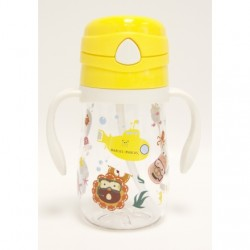 Marcus & Marcus Tritan Straw Bottle 350ml (Yellow Lola)