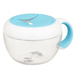 OXO TOT Flippy Snack Cup with Travel Cover - Aqua