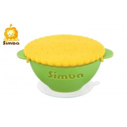 Simba Green Anti Scald Silicone Suction Bowl