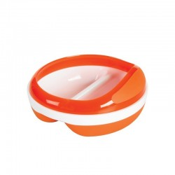 OXO TOT Divided Feeding Dish With Removable Ring - Orange