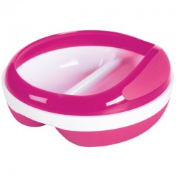 OXO TOT Divided Feeding Dish With Removable Ring - Pink