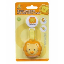 SIMBA Pacifier Holder With Case - Yellow