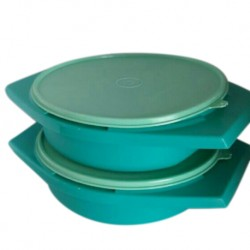 Tupperware Joy Keeper Round Server 1.8L x 2pc (Green)