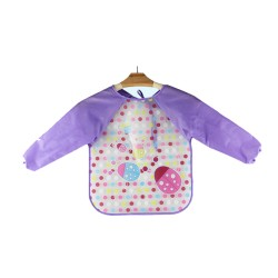 Ichiro Waterproof Sleeves Bib - Purple Bug