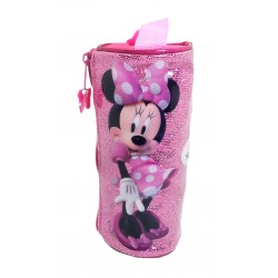 Disney Minnie Mouse Sparkling Stylish Round Pencil Bag