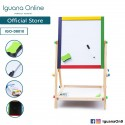 'Iguana Online Wooden 2 in 1 Foldable Magnetic Writing Painting Drawing Black Board Stand'