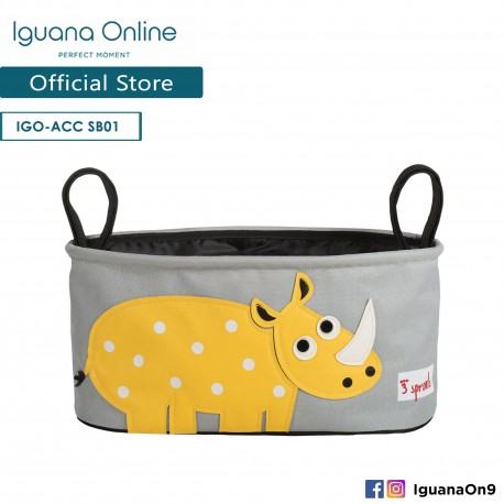 Iguana Online Universal Multipurpose Stroller Organizer Hang Bag Accessories Portable with Cup Holder (Rhino)