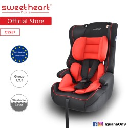 Sweet Heart Paris CS257 Group 1,2,3 Safety Car Seat Booster (Black Red) with Side Protection